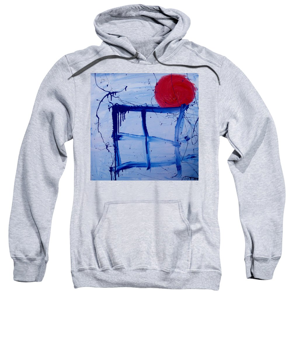 Sun Sweatshirt featuring the painting The Sun Through My Window by Wayne Potrafka