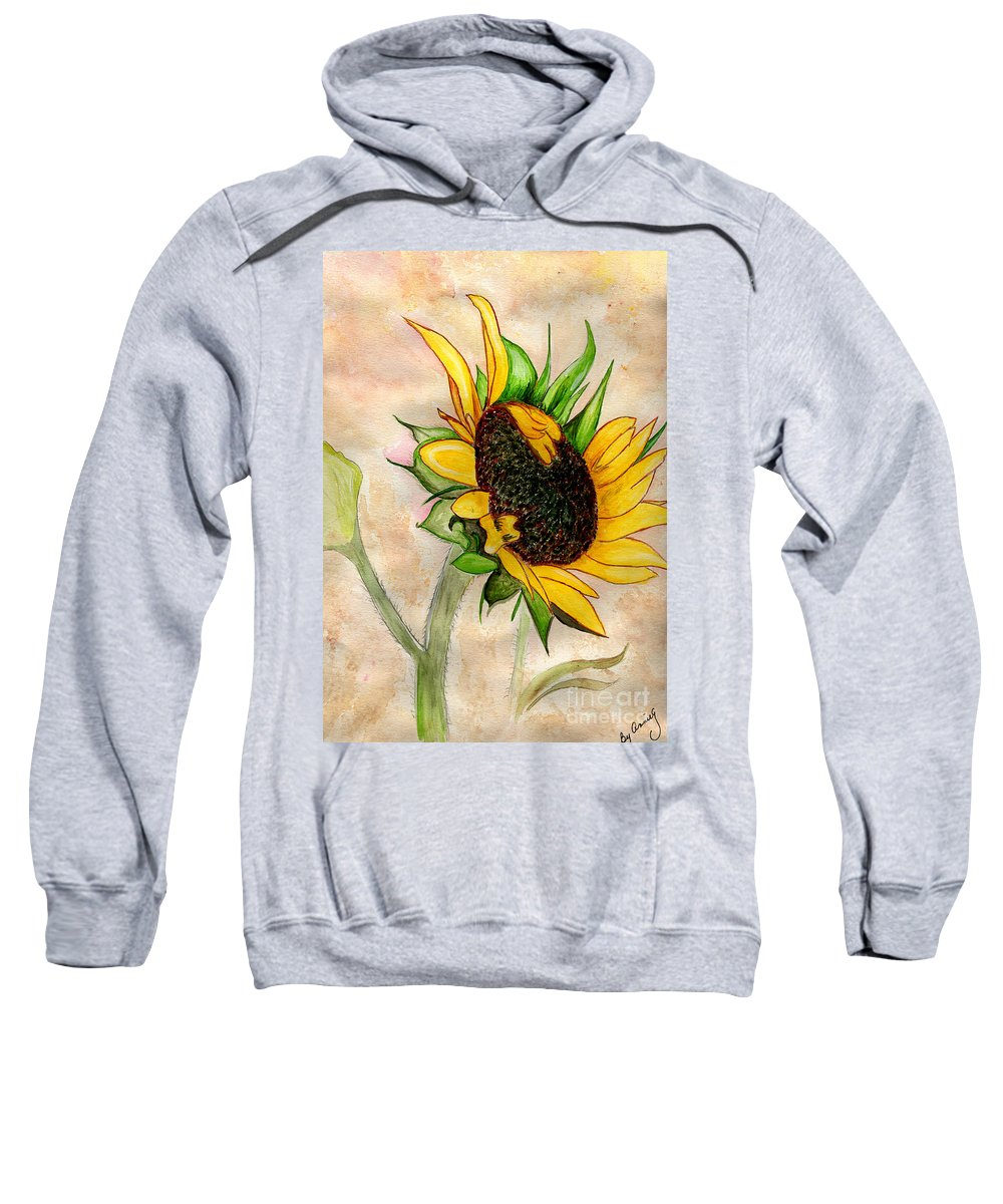 Sunflower Sweatshirt featuring the painting The Sunshine Of God's Love by Anne Gitto
