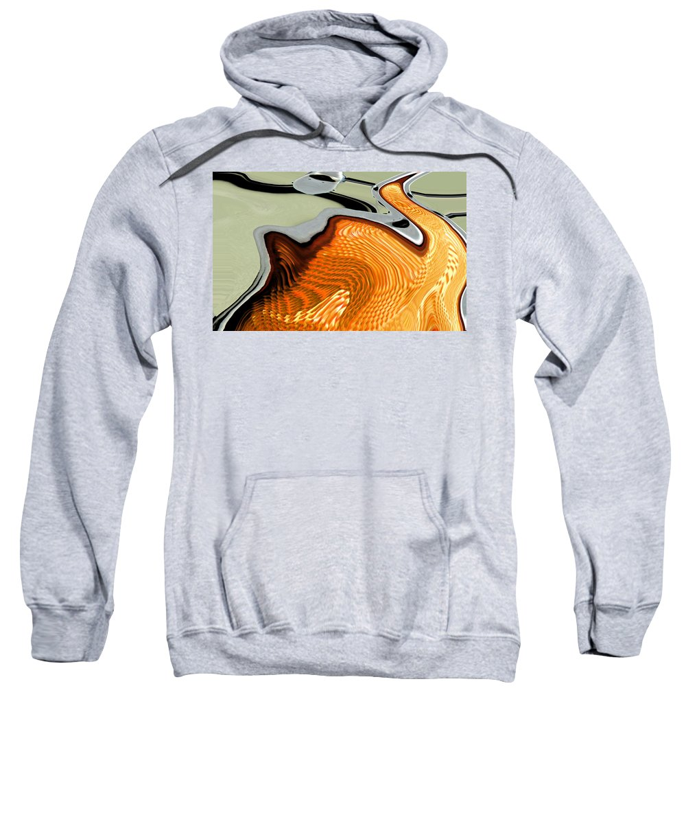 Abstract Sweatshirt featuring the digital art The Swan by Lenore Senior