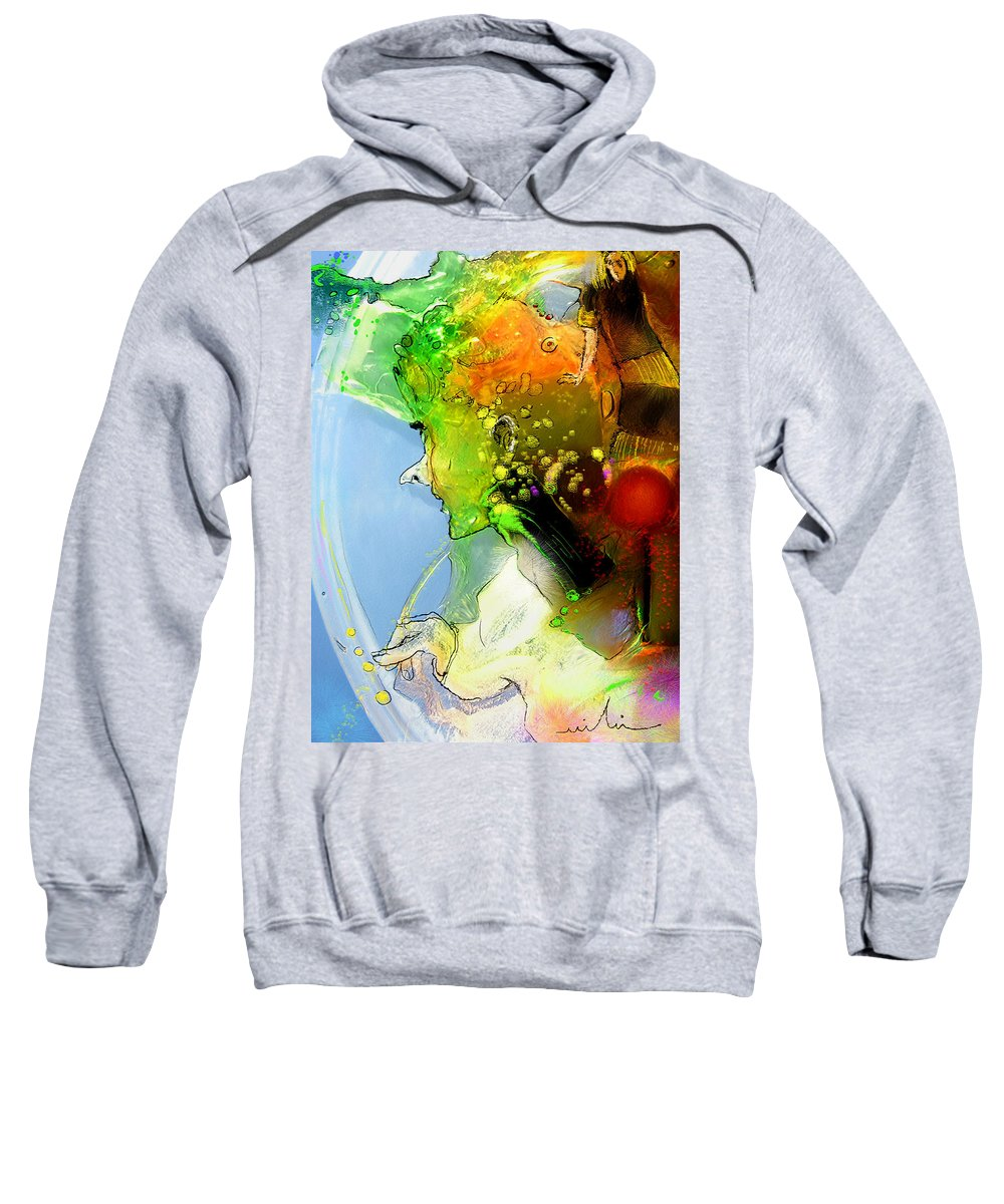 Weird Persons Sweatshirt featuring the painting The Sweeties 01 by Miki De Goodaboom