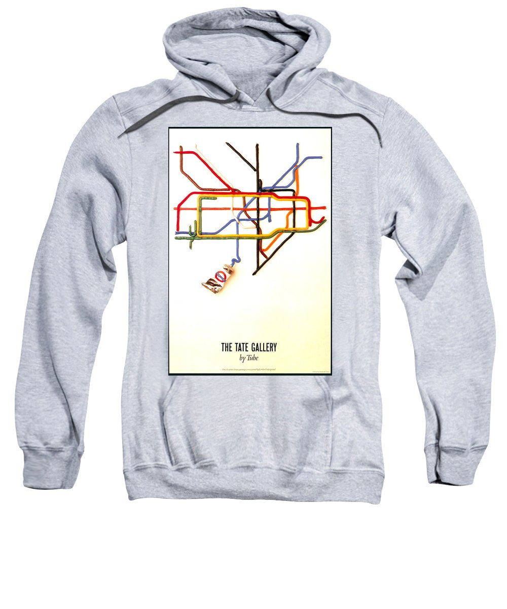Tate Gallery Sweatshirt featuring the mixed media The Tate Gallery - National Galleries And Museums - London Underground - Retro Travel Poster by Studio Grafiikka