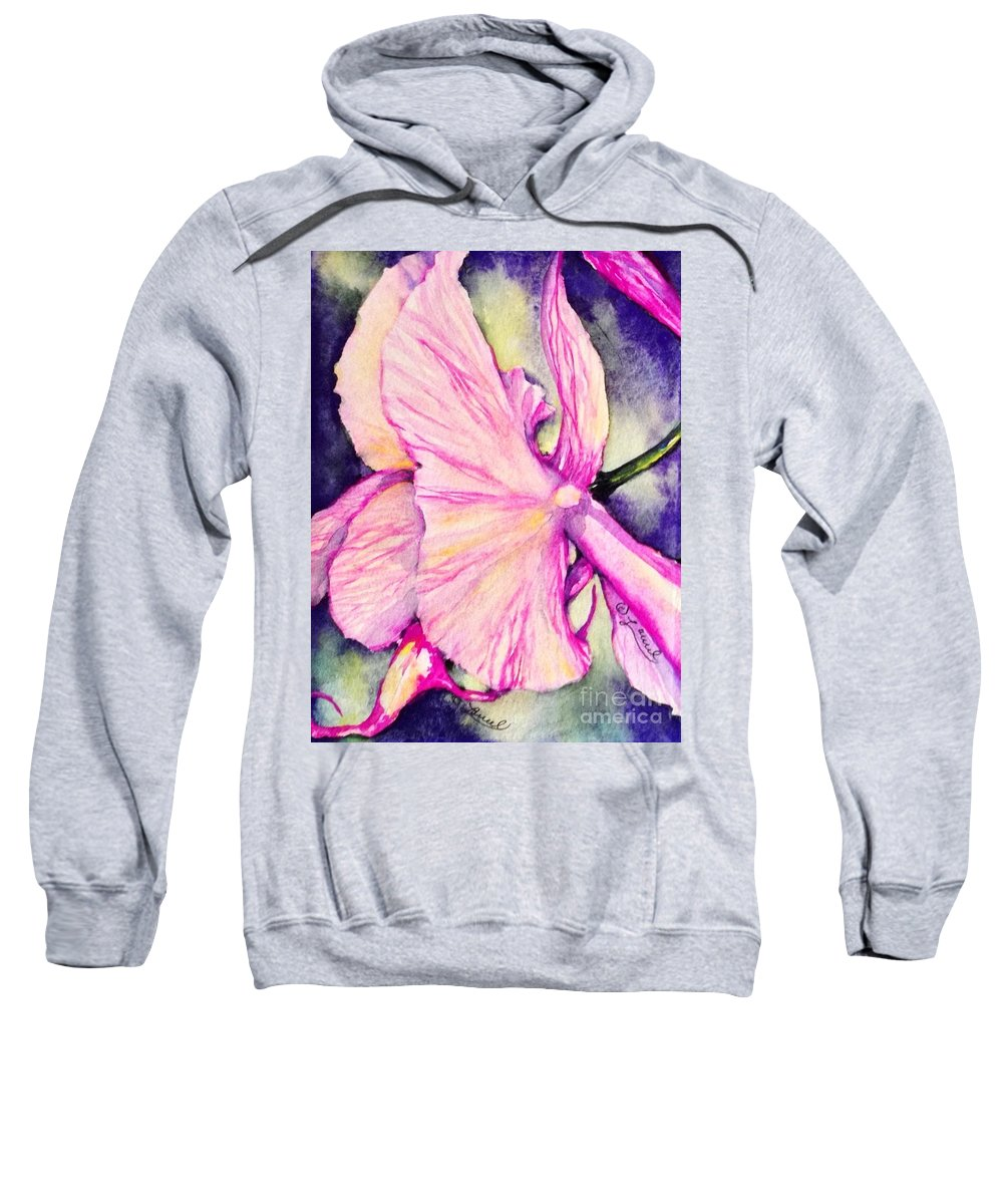 Florals Sweatshirt featuring the painting The Temptress by Laurel Adams