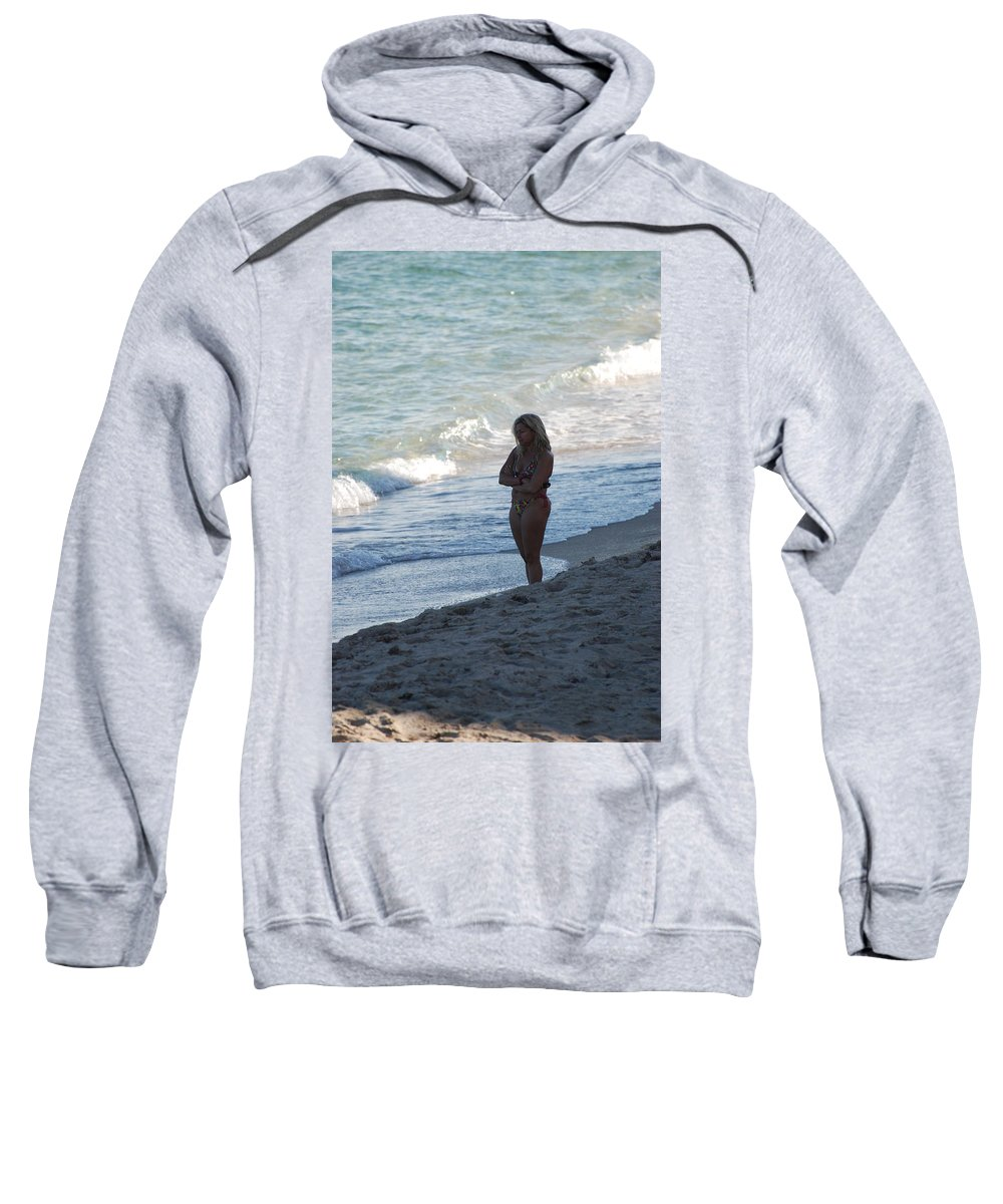 Sea Scape Sweatshirt featuring the photograph The Thinking Women by Rob Hans