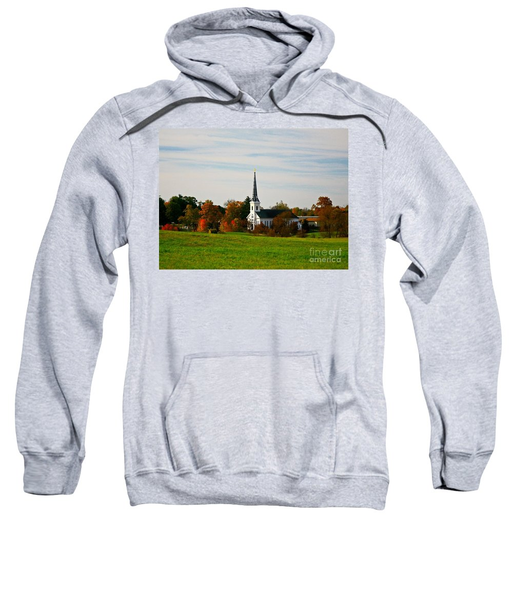 Fall Sweatshirt featuring the photograph The Town Church by Robert Pearson