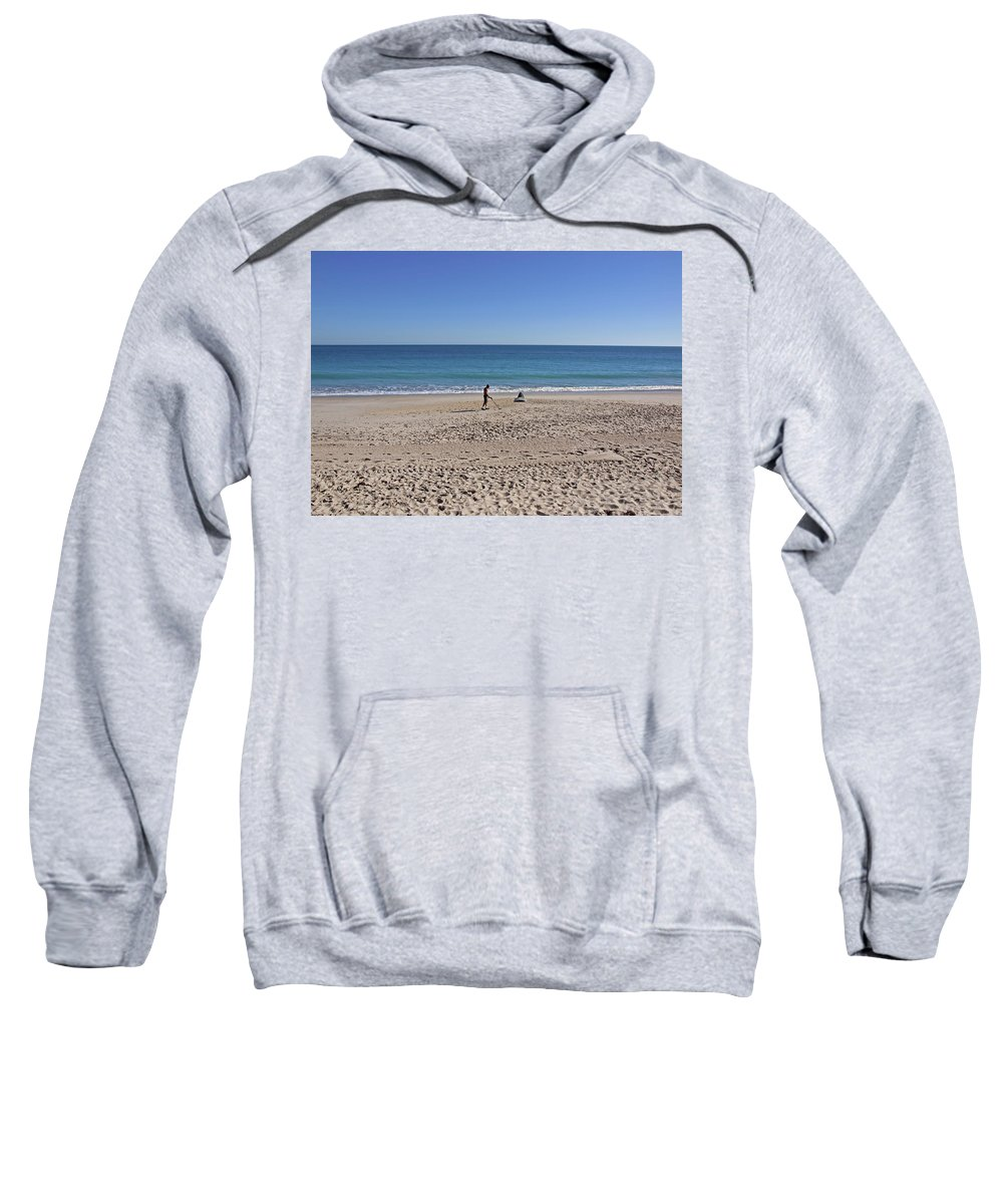 Florida Sweatshirt featuring the photograph The Treasure Coast At Vero Beach In Florida by Allan Hughes