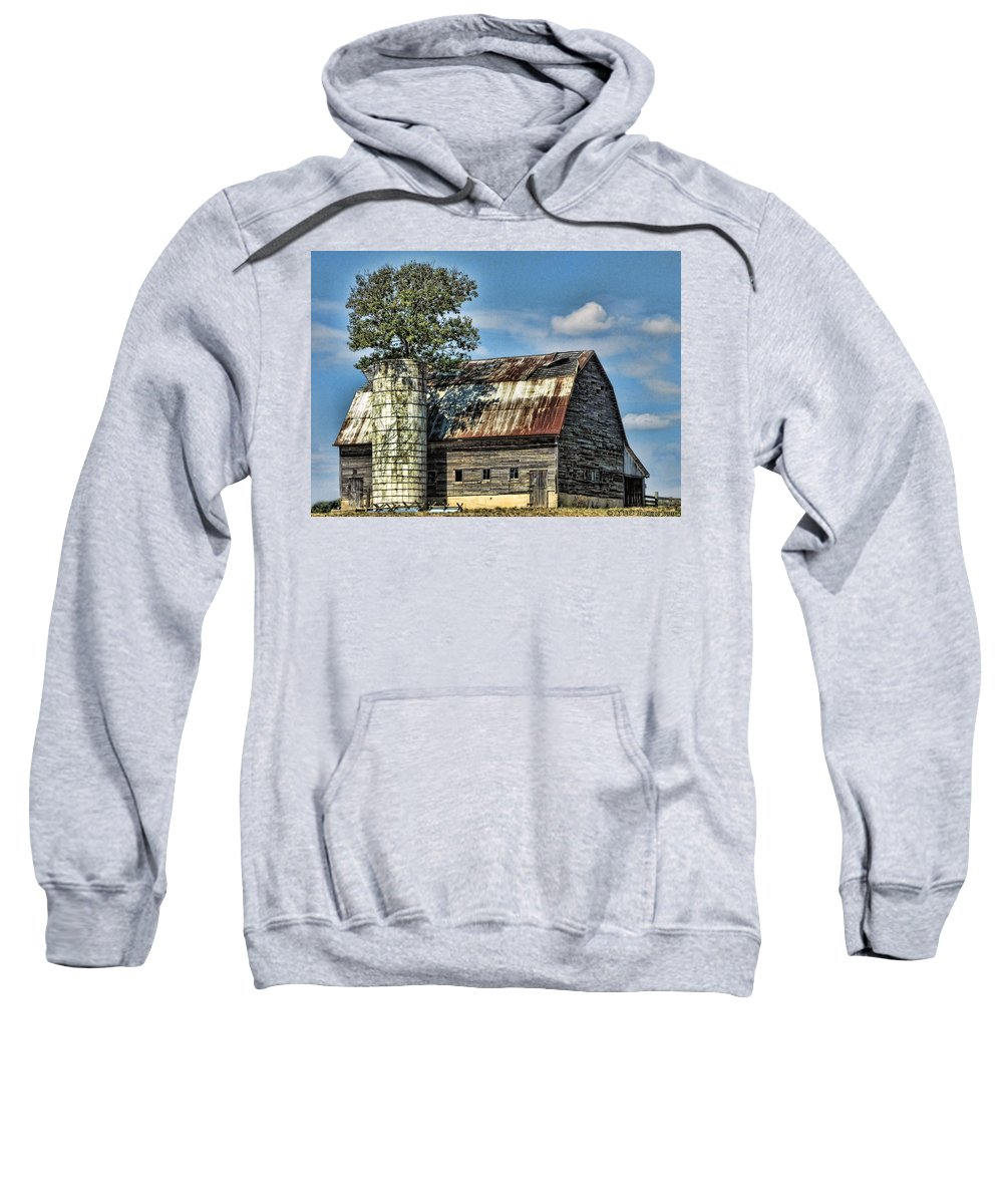 Farms Sweatshirt featuring the photograph The Tree Silo by Kristie Bonnewell