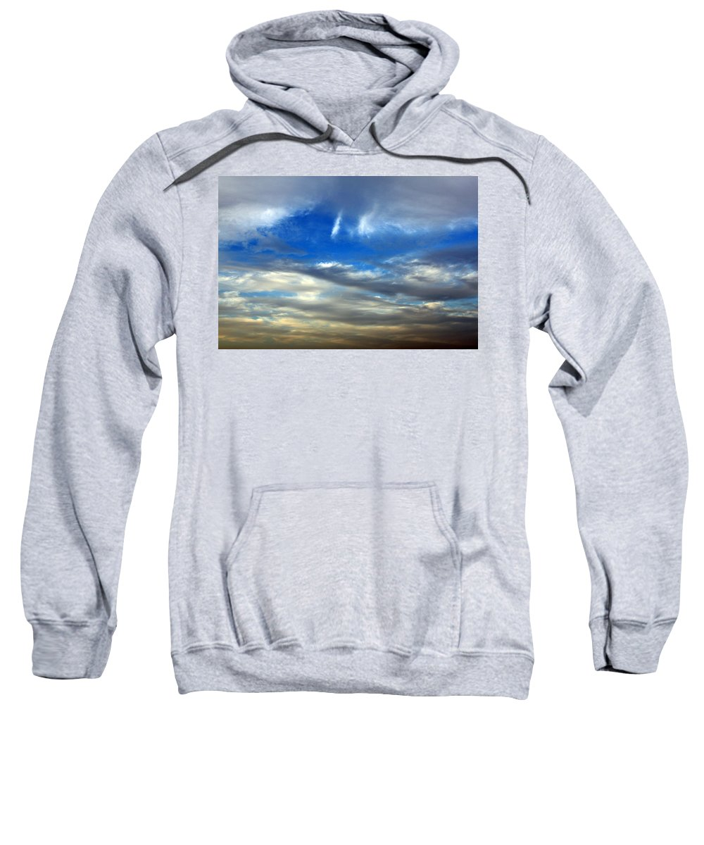 Heaven Sweatshirt featuring the photograph The Twin Lights by Munir Alawi