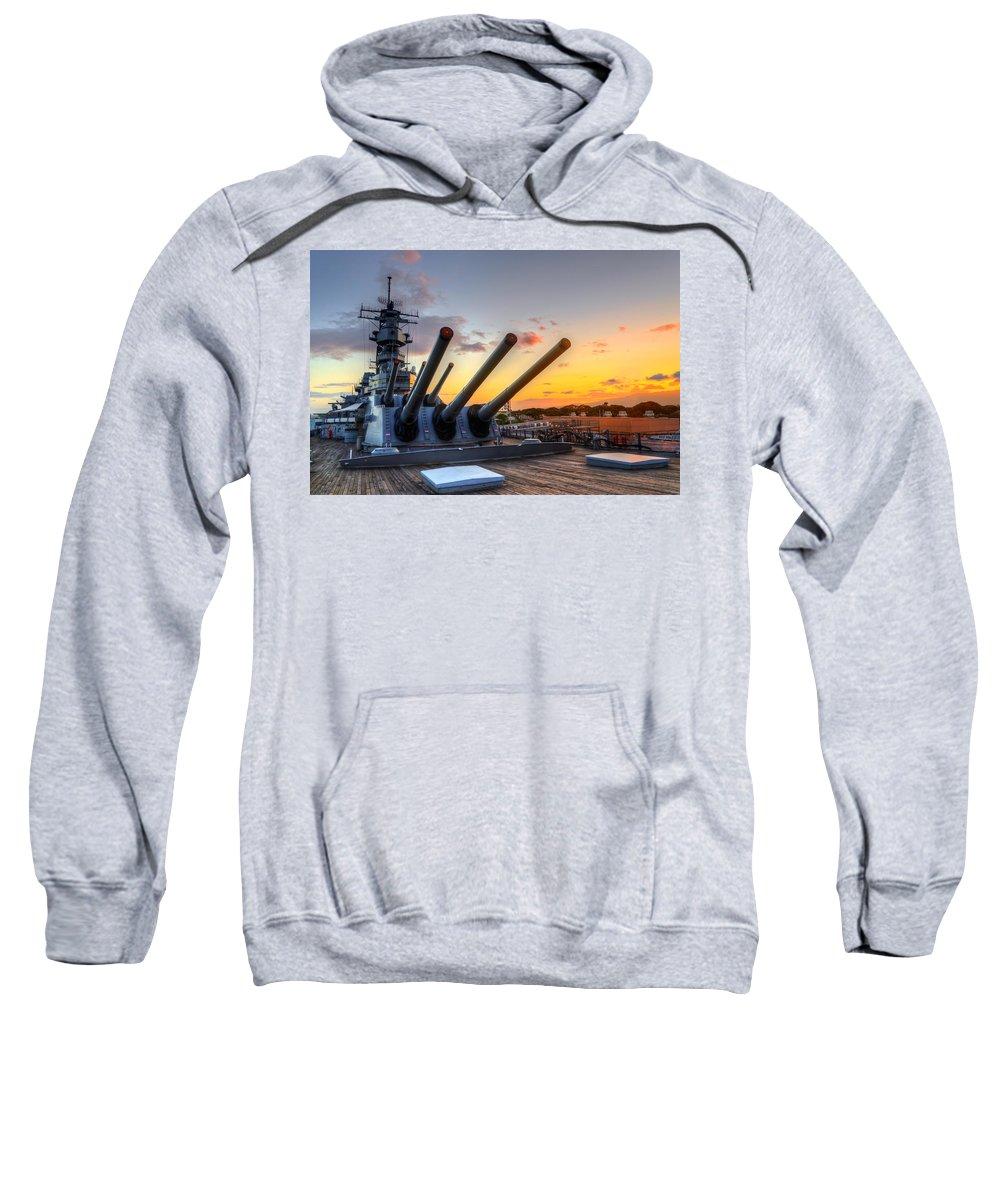 Hawaii Sweatshirt featuring the photograph The Uss Missouri's Last Days by Jason Chu