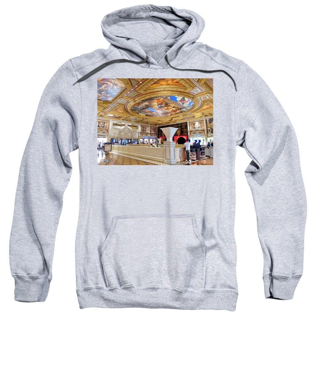 Venetian Hotel Sweatshirt featuring the photograph The Venetian Hotel Lobby by Julie Niemela