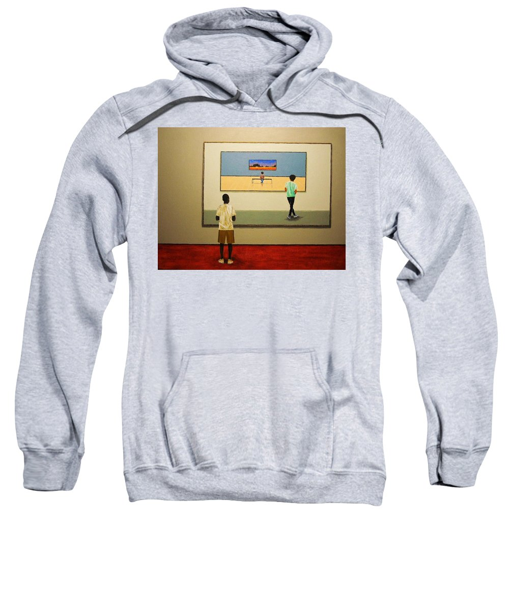 Painting Sweatshirt featuring the painting The View Within by Edith Peterson-Watson