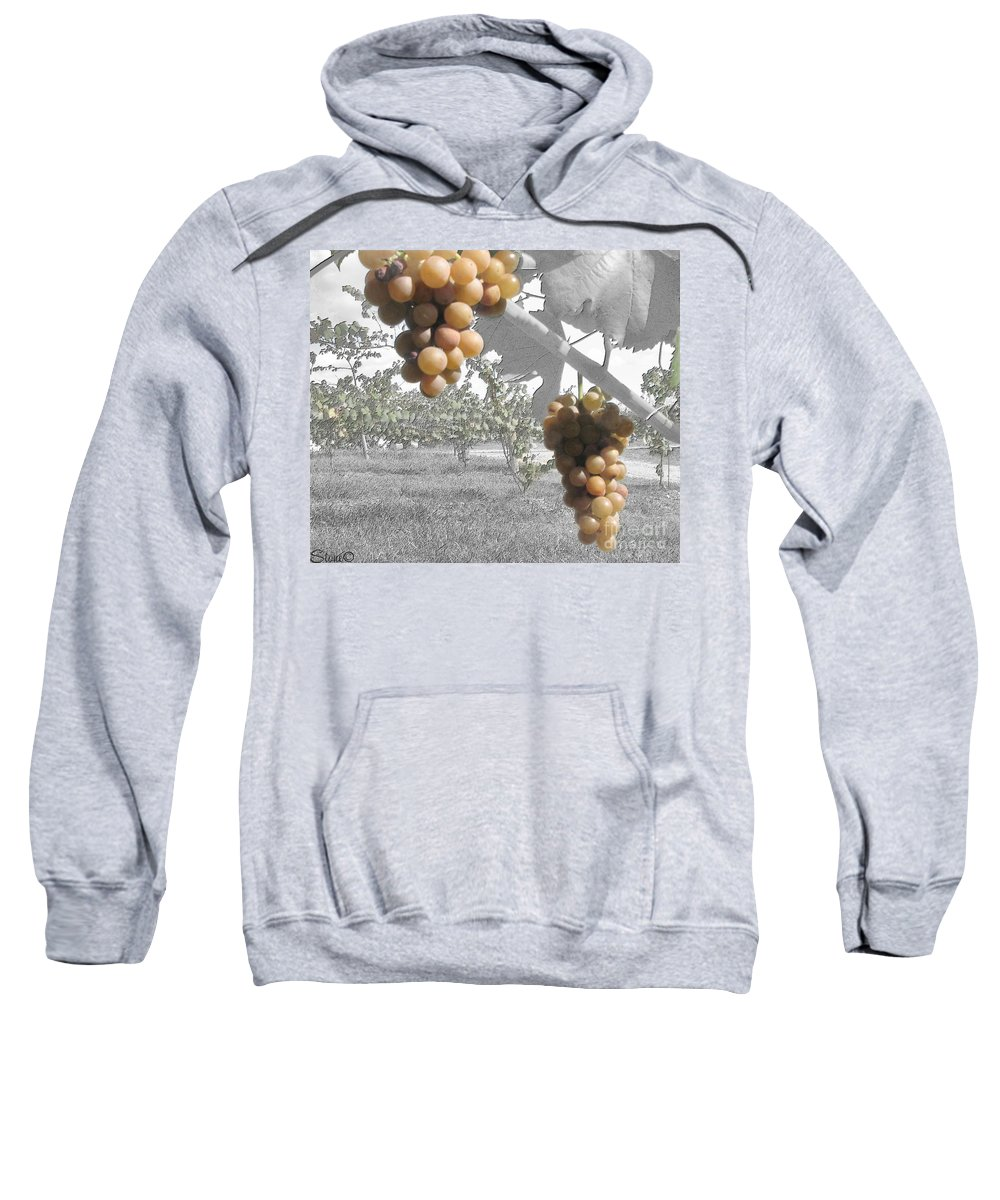 Grapes Sweatshirt featuring the photograph The Vineyard 2 by September Stone