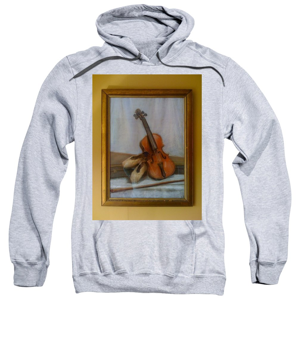 Pastel . Still Life Sweatshirt featuring the pastel The Violin by Bella Altman