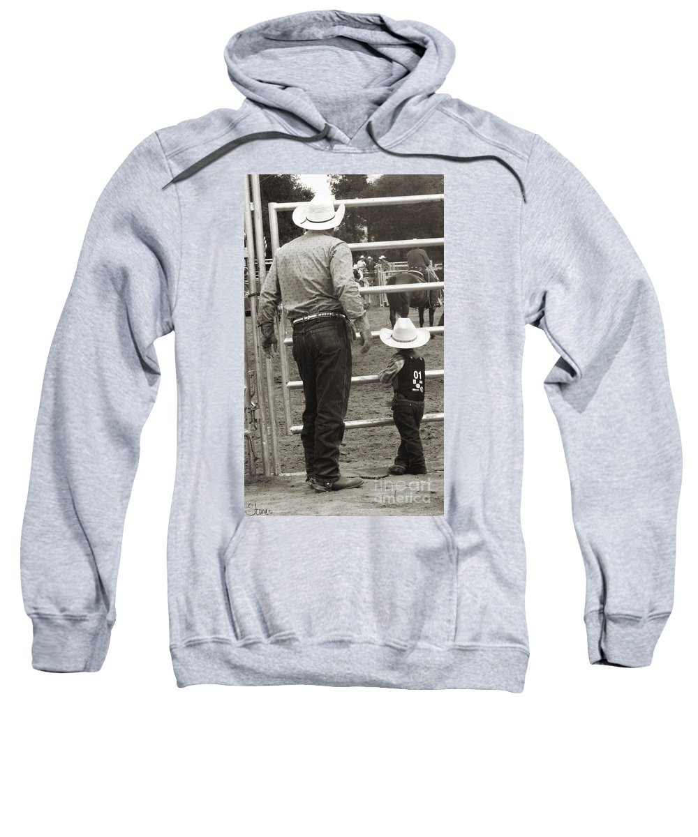 Rodeo Sweatshirt featuring the photograph The Wait by September Stone