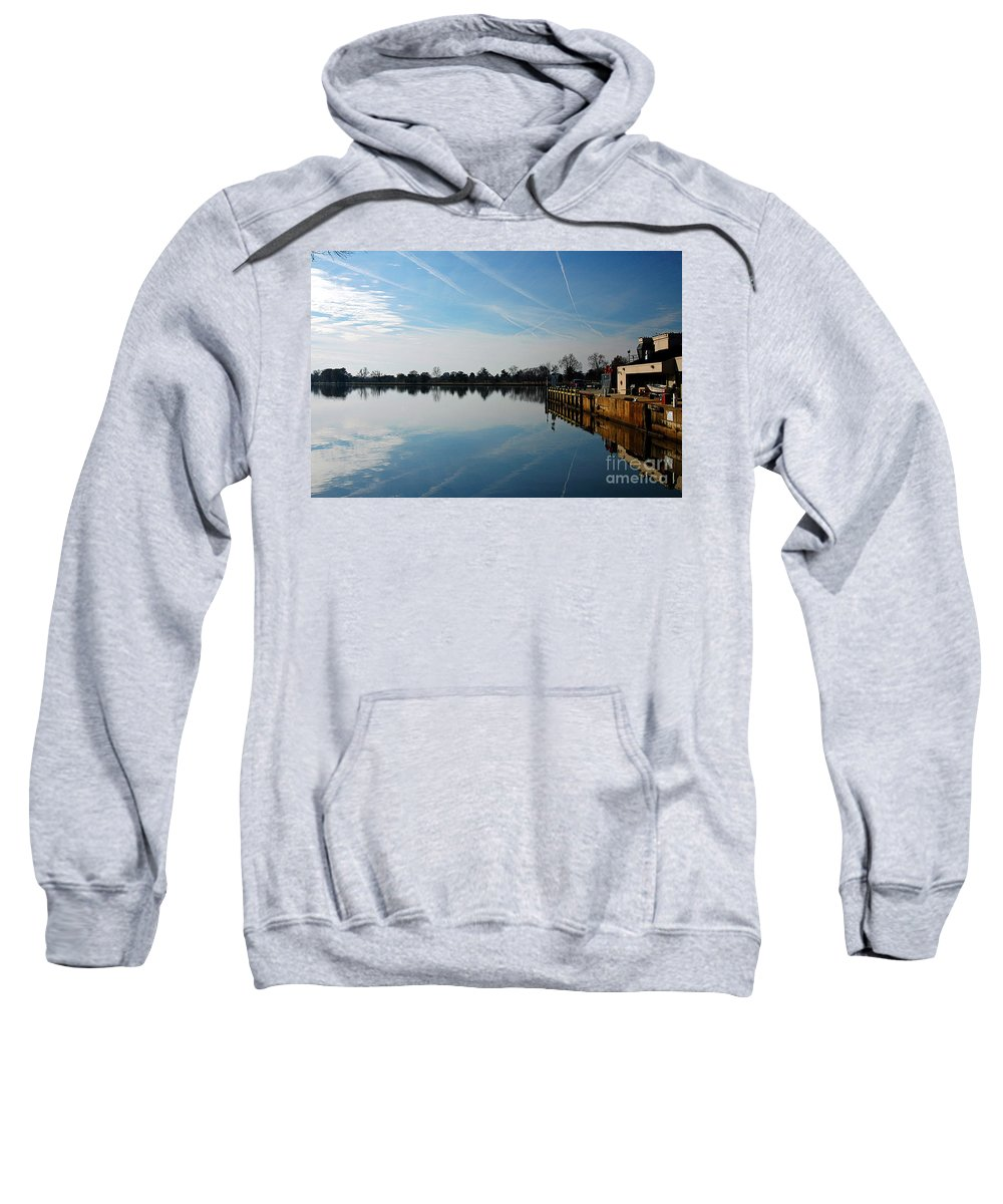 Clay Sweatshirt featuring the photograph The Washington D.c. Basin by Clayton Bruster