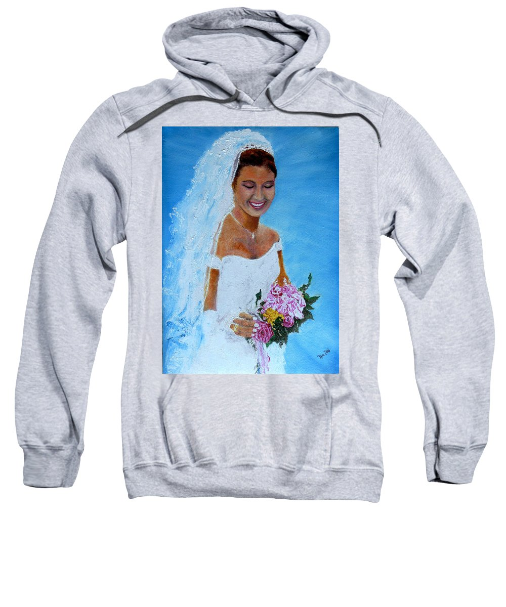 Wedding Sweatshirt featuring the painting the wedding day of my daughter Daniela by Helmut Rottler