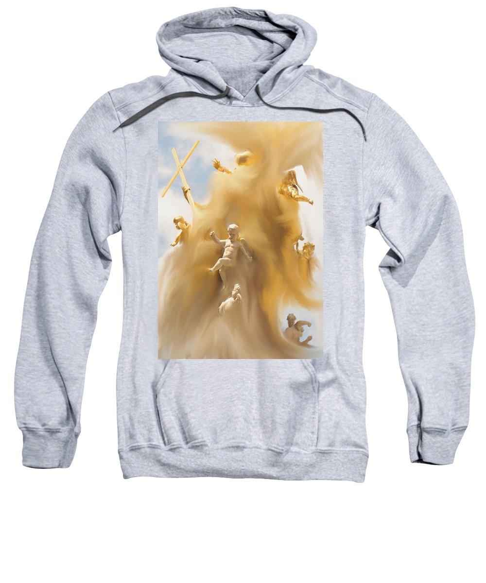 Religion Sweatshirt featuring the digital art The Whirlwind by Ian MacDonald
