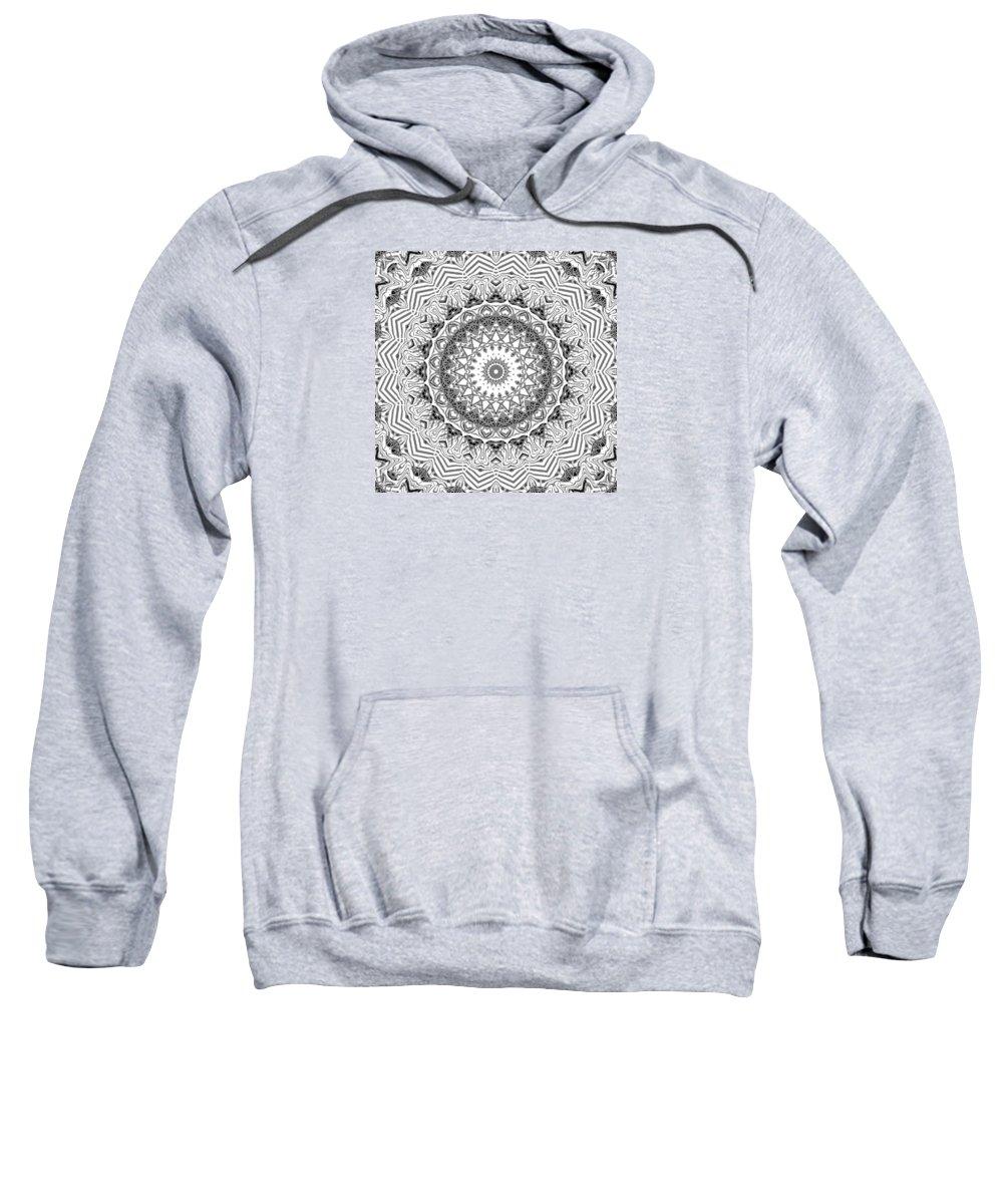 Digital Sweatshirt featuring the digital art The White Kaleidoscope No. 2 by Joy McKenzie
