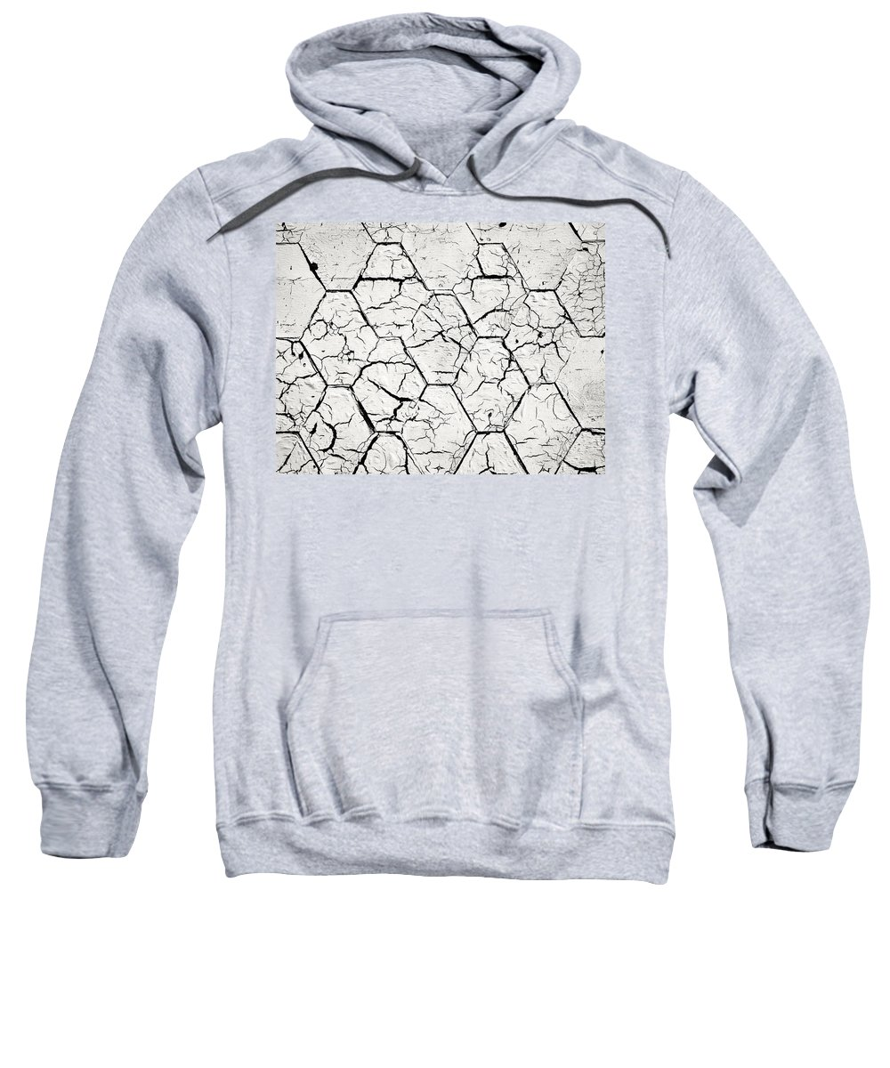 Roof Sweatshirt featuring the photograph The White Painted Asphalt Shingle by Jozef Jankola