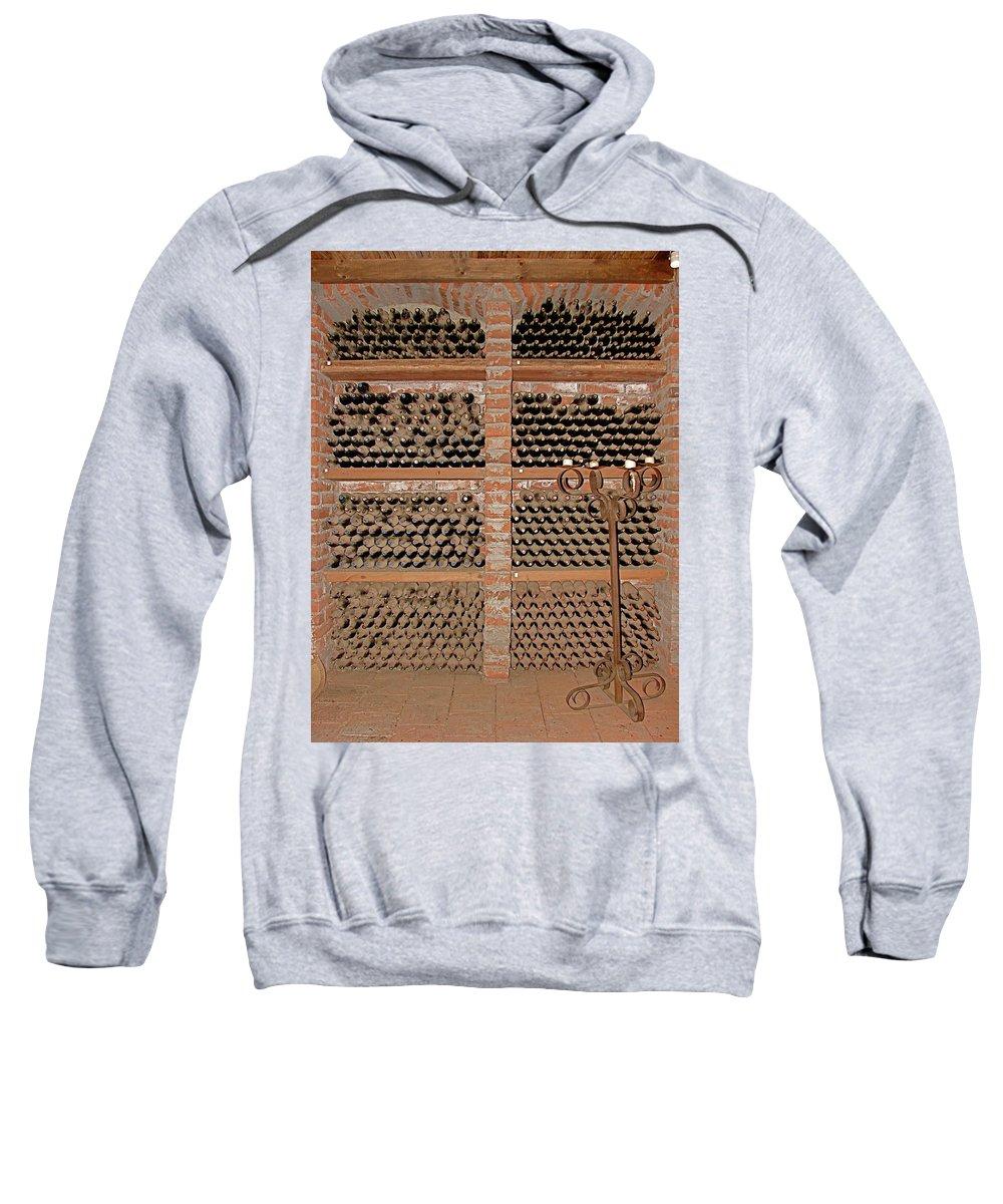 Colchagua Sweatshirt featuring the photograph The Wine Cellar by Brett Winn