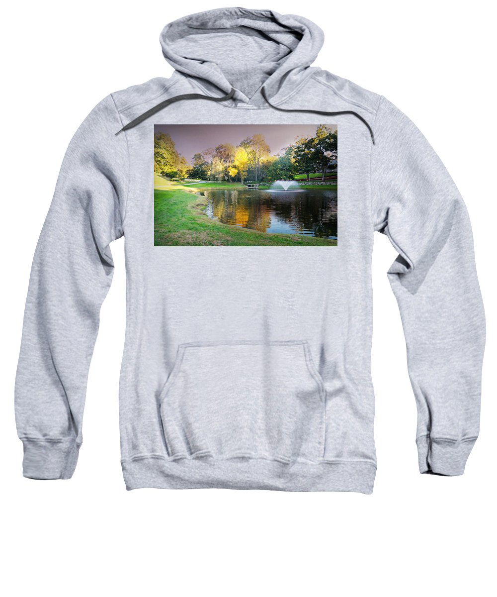 Golf Course Sweatshirt featuring the photograph The Yellow Tree by Diana Angstadt