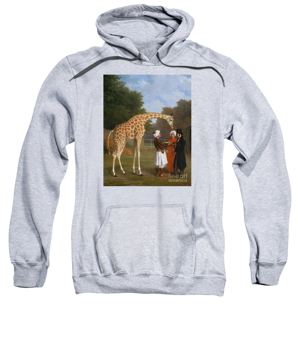 The Zoological Garden Sweatshirt featuring the painting The Zoological Garden by MotionAge Designs