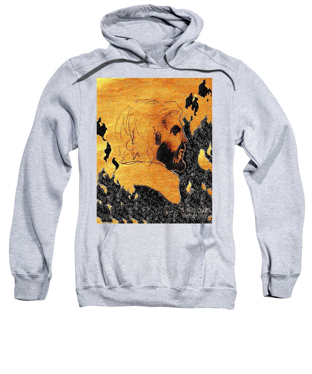 Judgment Sweatshirt featuring the digital art Then How Are You Turned Away From Your True Center by Contemporary Luxury Fine Art
