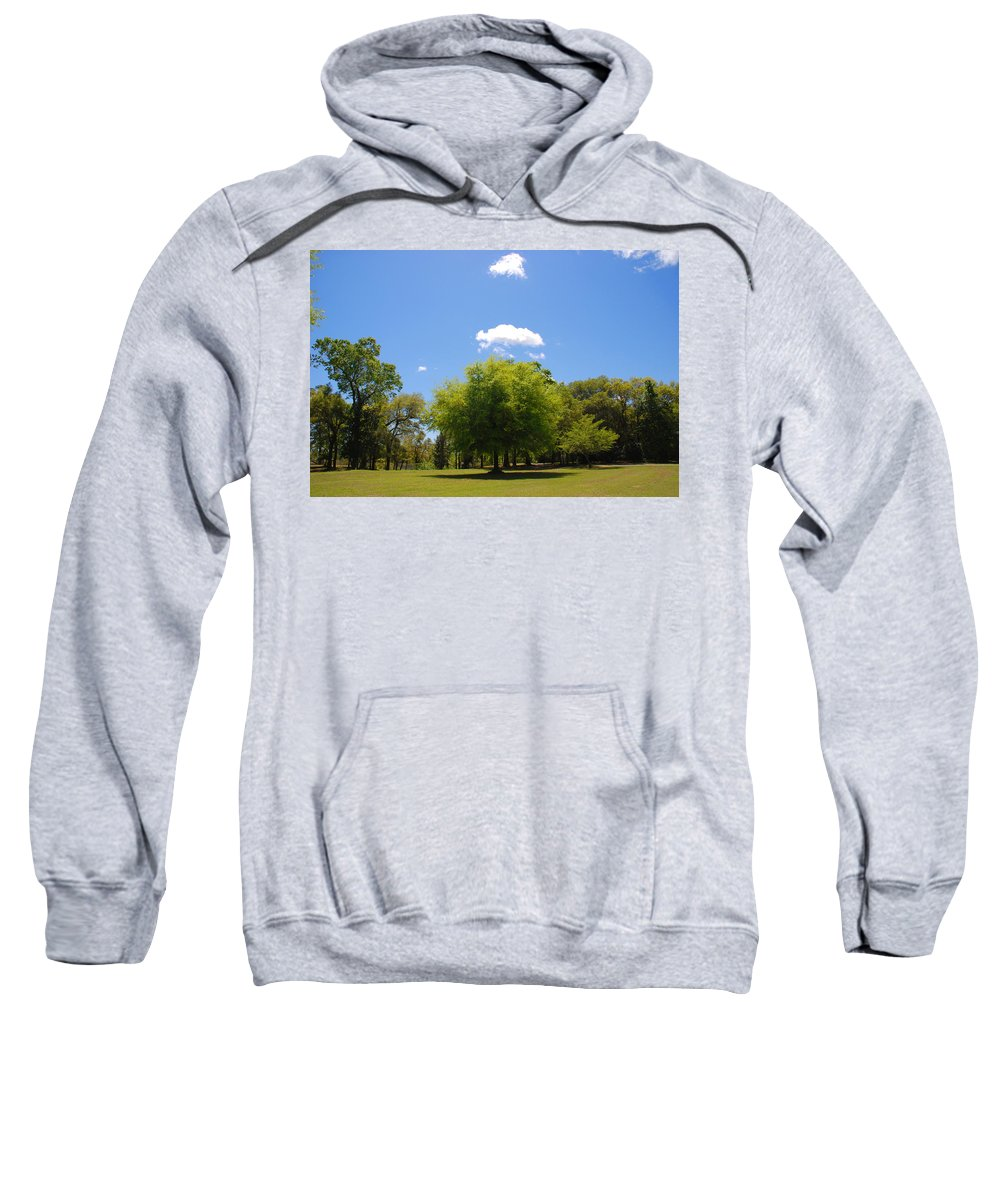 Photography Sweatshirt featuring the photograph There Are Some Clouds by Susanne Van Hulst