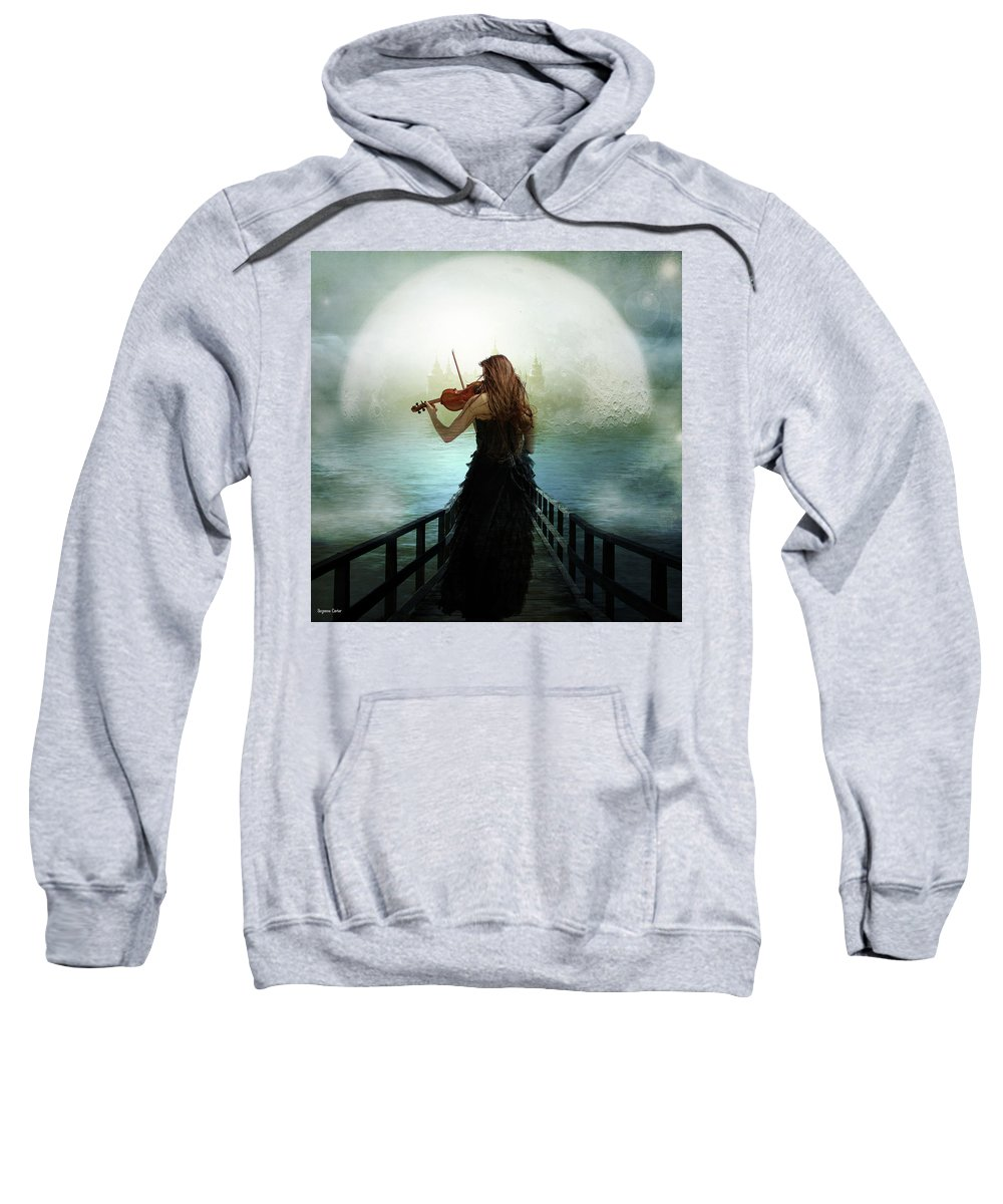 Digital Sweatshirt featuring the digital art There Is A City by Suzanne Carter