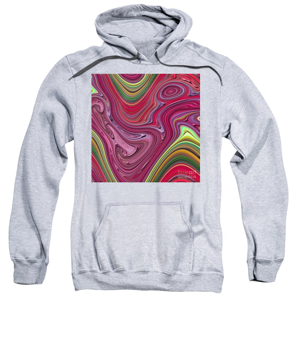 Colorful Sweatshirt featuring the digital art Thick Paint Abstract by Melissa A Benson