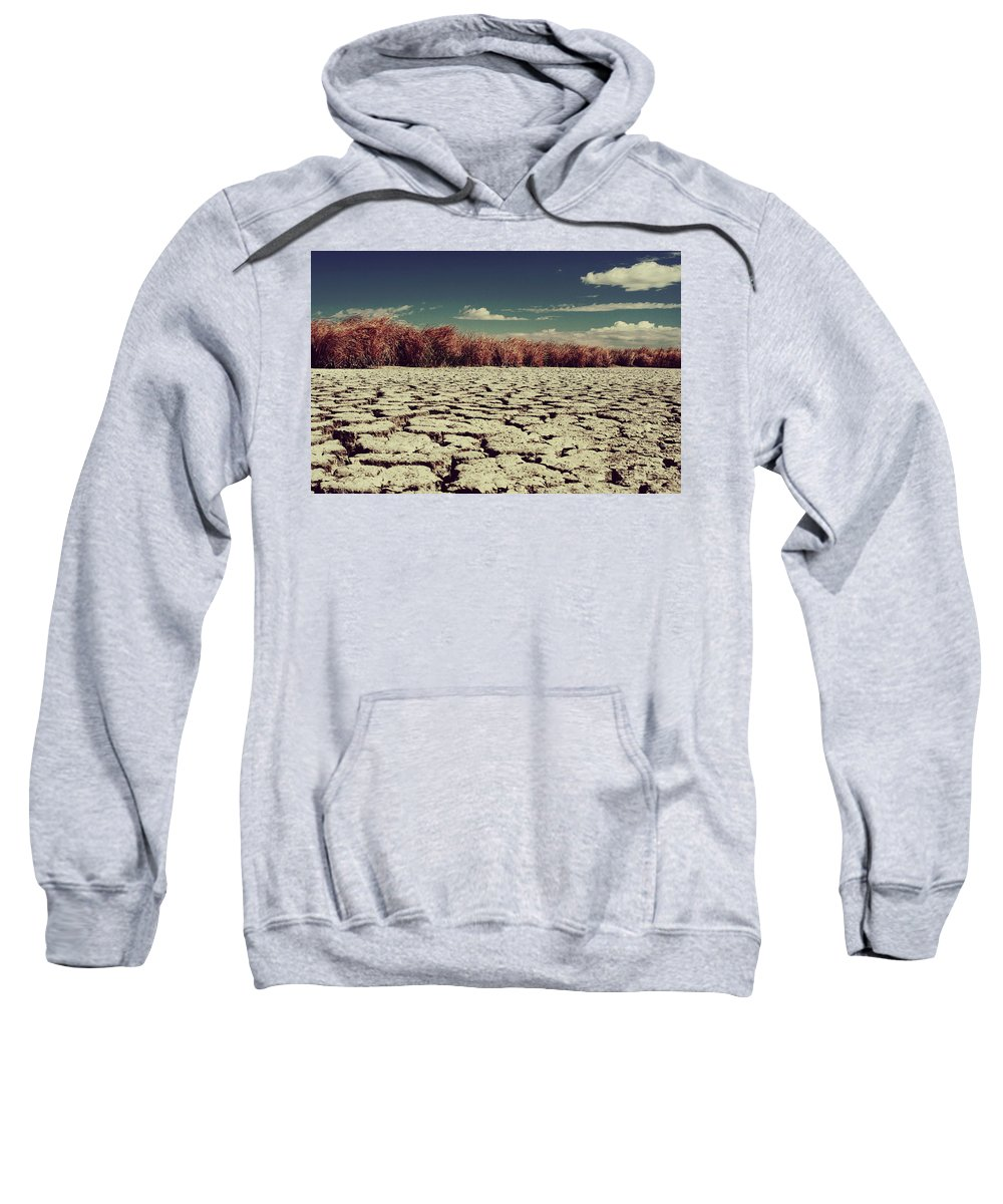 Cracked Sweatshirt featuring the photograph Thirsty by Laurie Search