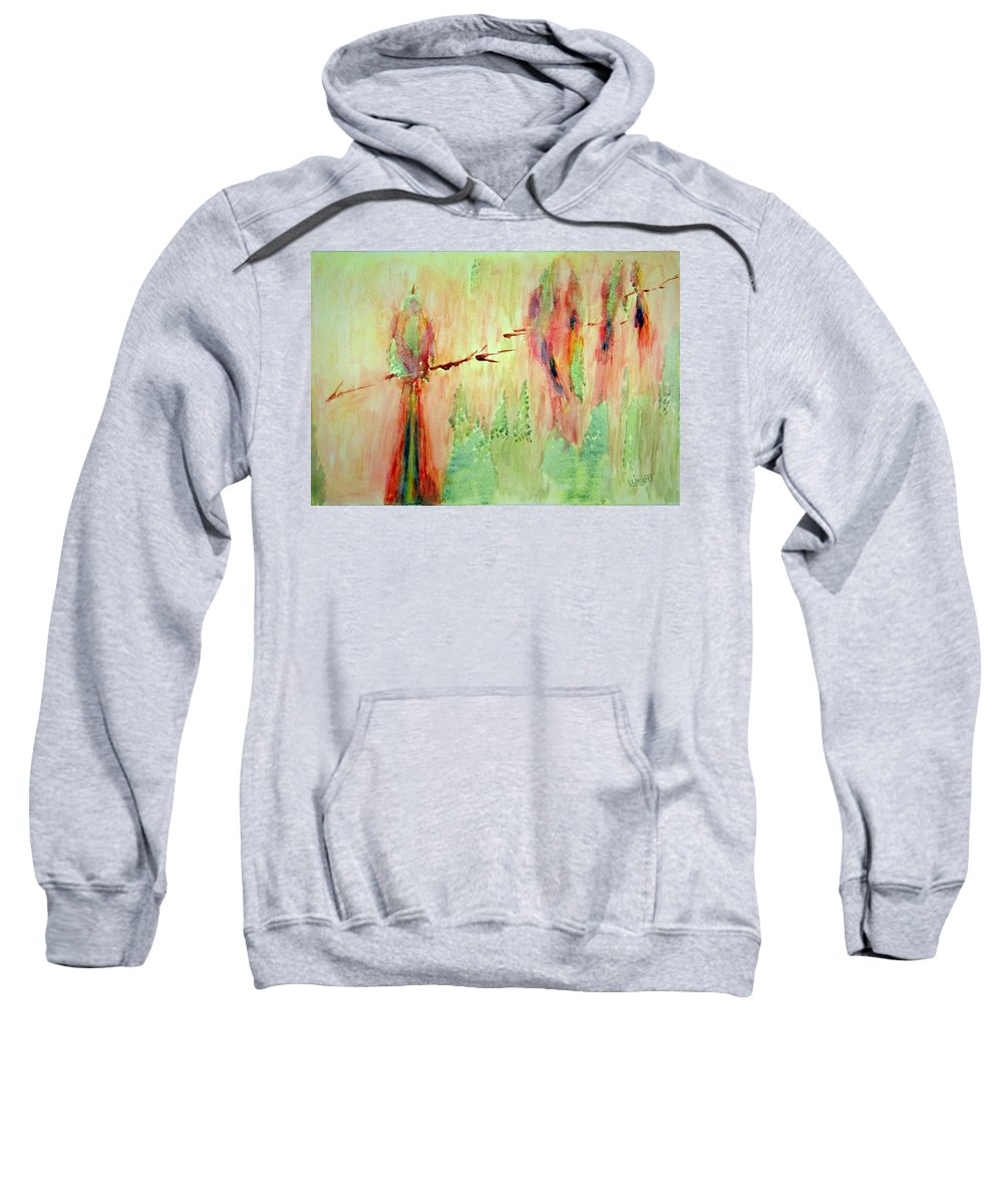Abstract Art Sweatshirt featuring the painting This Must Be A Dream by Larry Wright