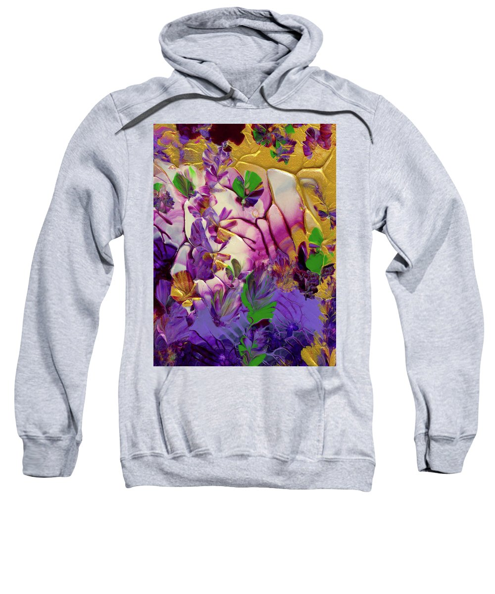 Flowers Sweatshirt featuring the painting This Planet Earth by Nan Bilden