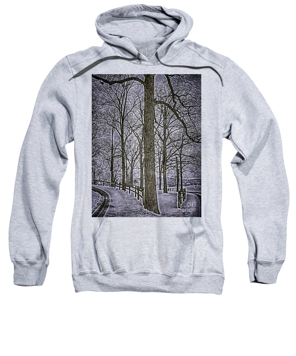 Country Sweatshirt featuring the photograph Thompson Lake Hdr by September Stone