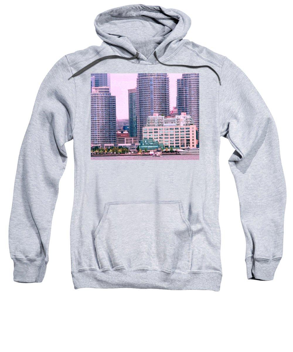 Toronto Sweatshirt featuring the photograph Thousands Of Windows On The Harbor by Ian MacDonald