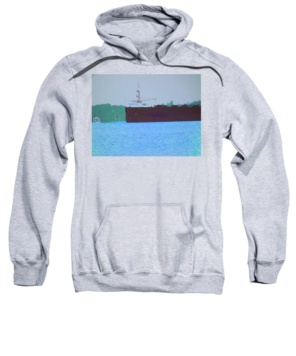 Summer Sweatshirt featuring the photograph Thunder Bay by Joseph F Safin