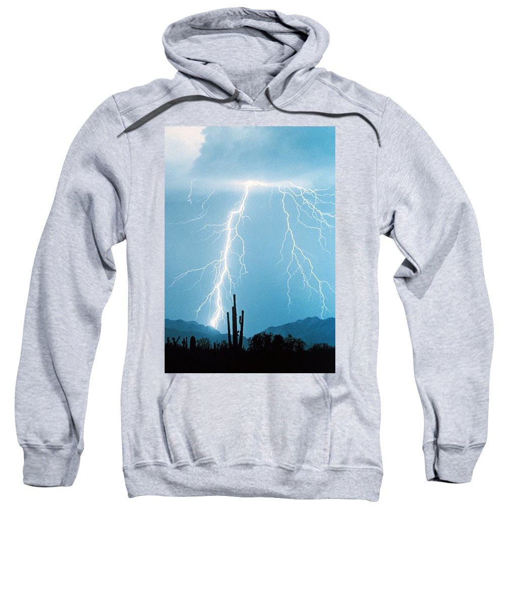 Lightning Sweatshirt featuring the photograph Thunderbolts From Heaven by James BO Insogna