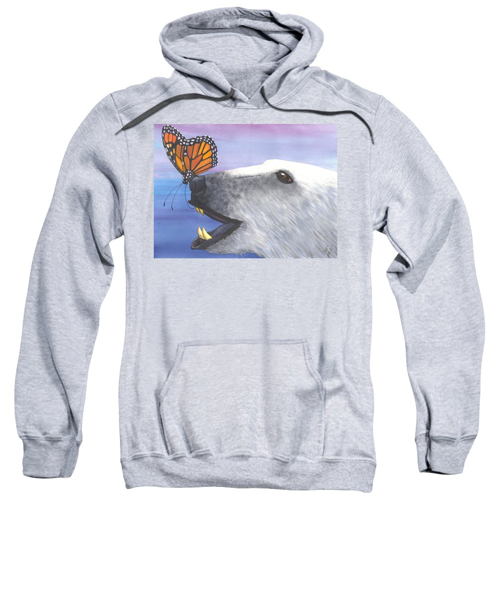 Butterfly Sweatshirt featuring the painting Tickles by Catherine G McElroy