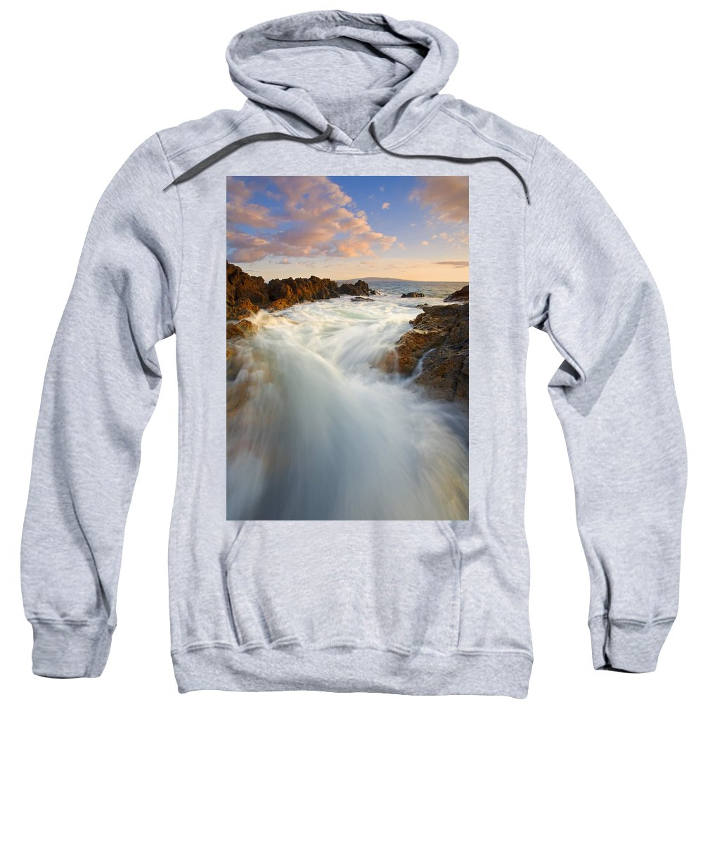 Surge Sweatshirt featuring the photograph Tidal Surge by Mike Dawson