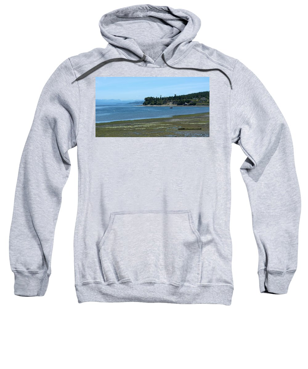 Coupeville Sweatshirt featuring the photograph Tide's Out by Linda Kerkau