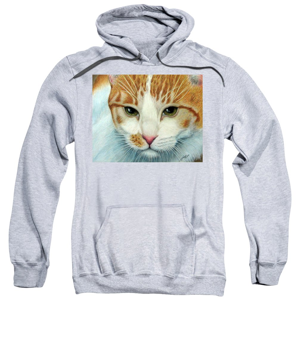 Kittens Sweatshirt featuring the drawing Tiger Lily by Beverly Fuqua