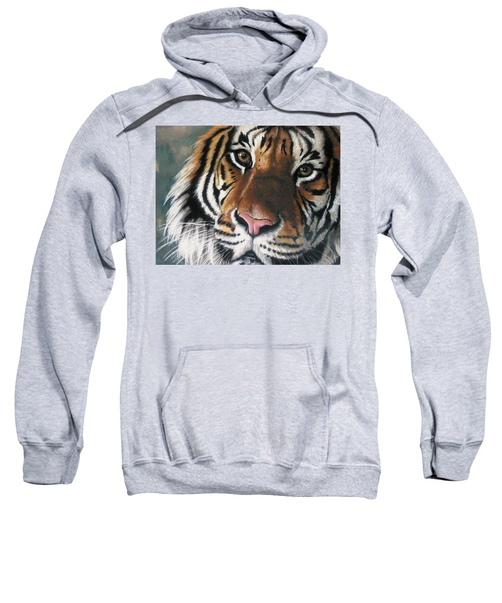 Tiger Sweatshirt featuring the pastel Tigger by Barbara Keith