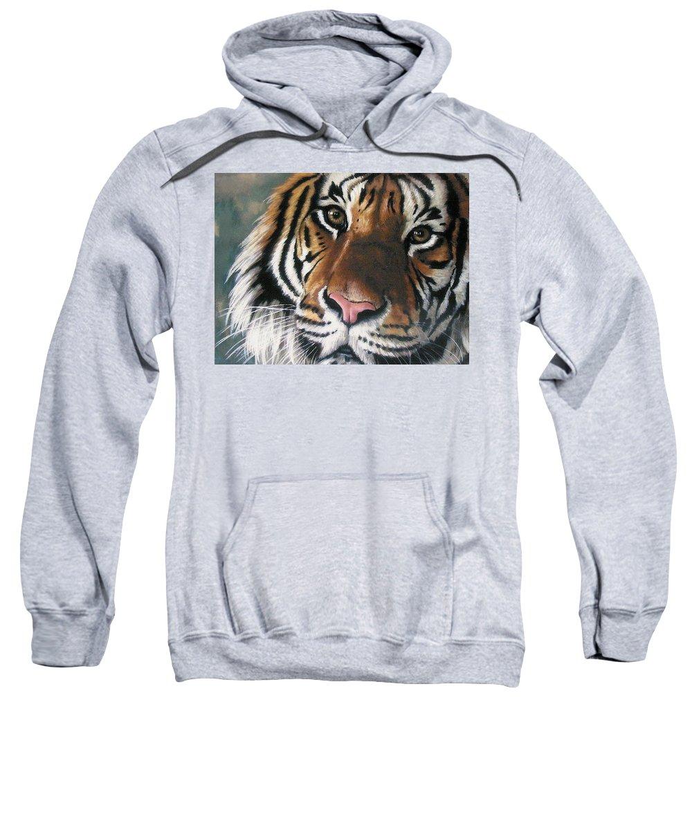 Tiger Sweatshirt featuring the pastel Tigger by Barbara Keith