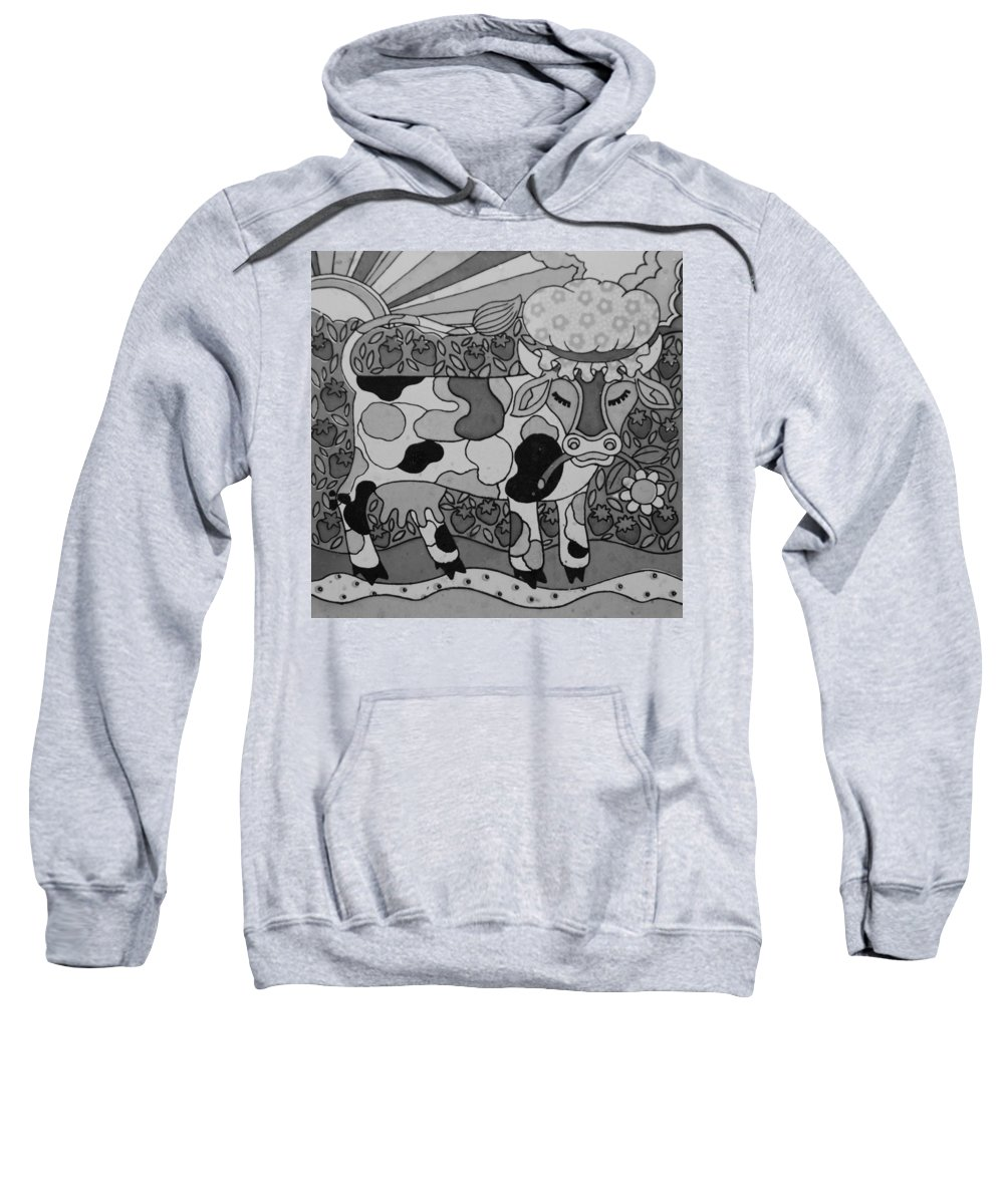 Pop Art Sweatshirt featuring the photograph Tile Cow by Rob Hans