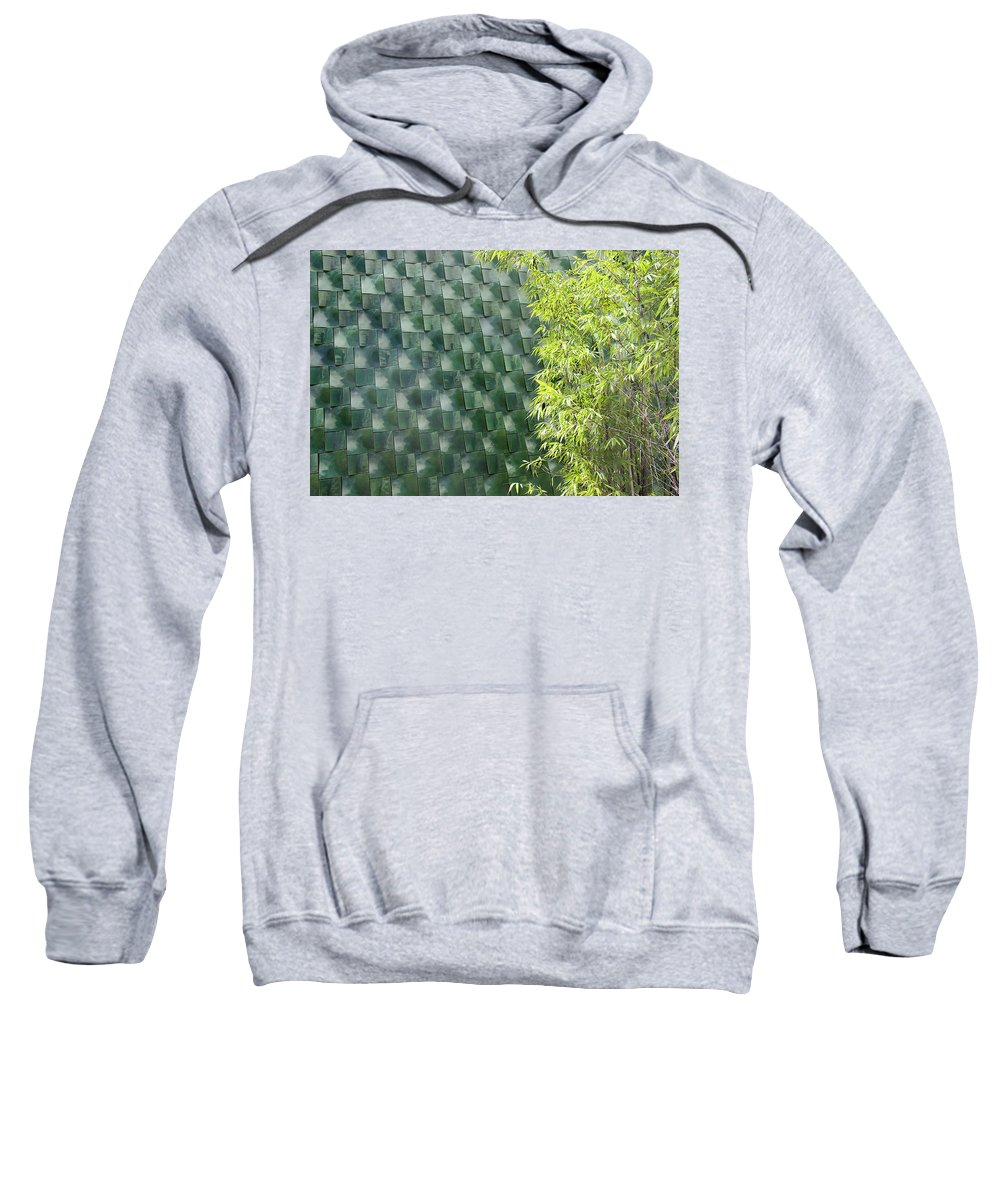 Wall Sweatshirt featuring the photograph Tile Wall Of The Ringling Museum Asian Art Center by Richard Goldman