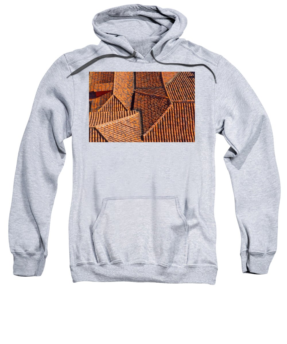 Spain Sweatshirt featuring the photograph Tiles Kiss by Jean-luc Bohin