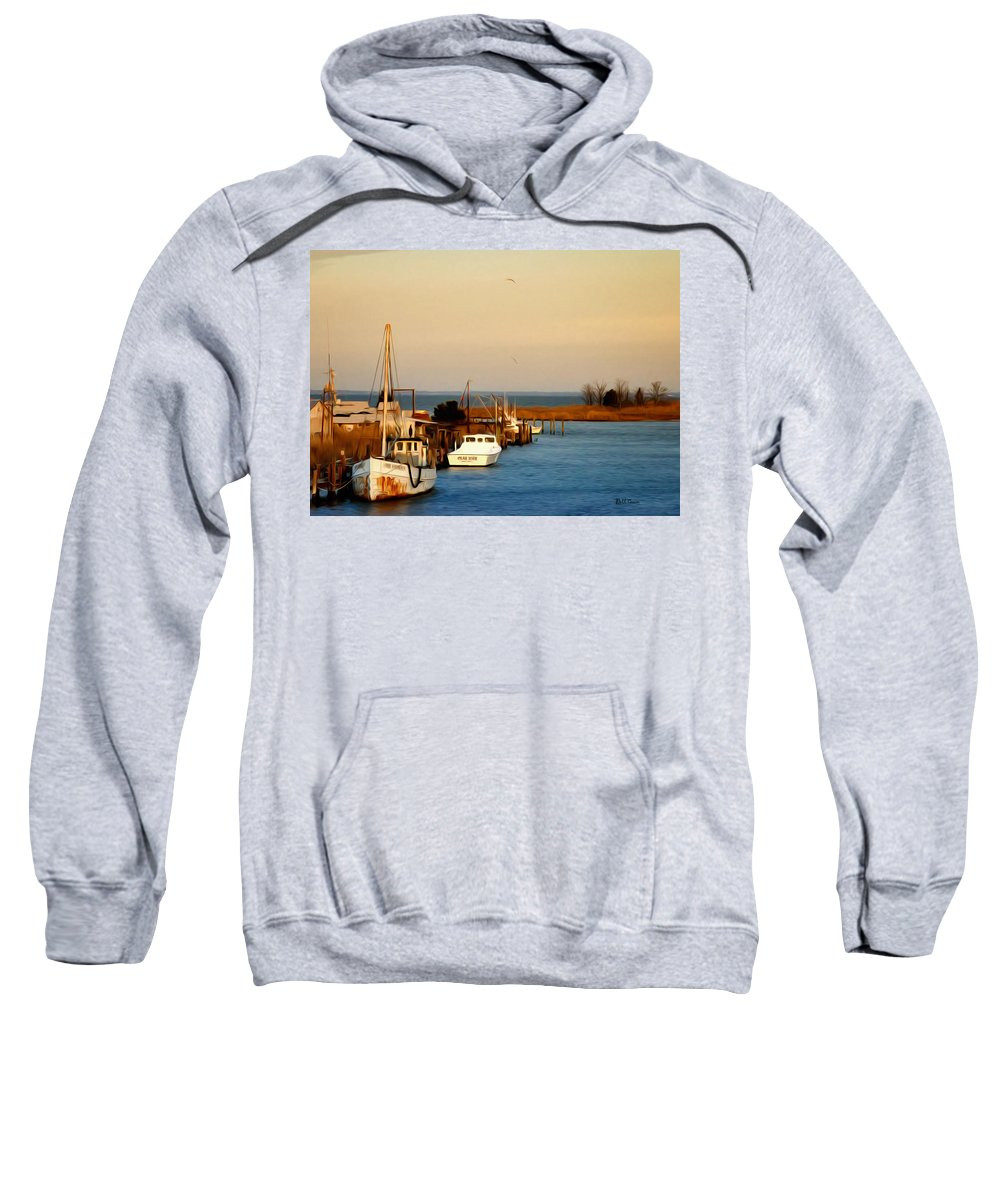 Tilghman Island Maryland Sweatshirt featuring the photograph Tilghman Island Maryland by Bill Cannon