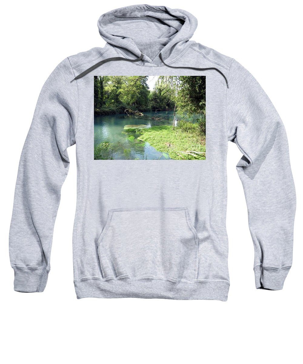 River Sweatshirt featuring the photograph Timava's Spring II by Dragica Micki Fortuna