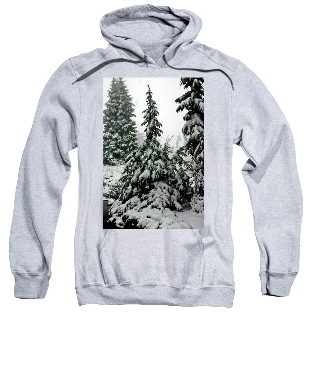 Snow Sweatshirt featuring the photograph Timberline Snow by Albert Seger