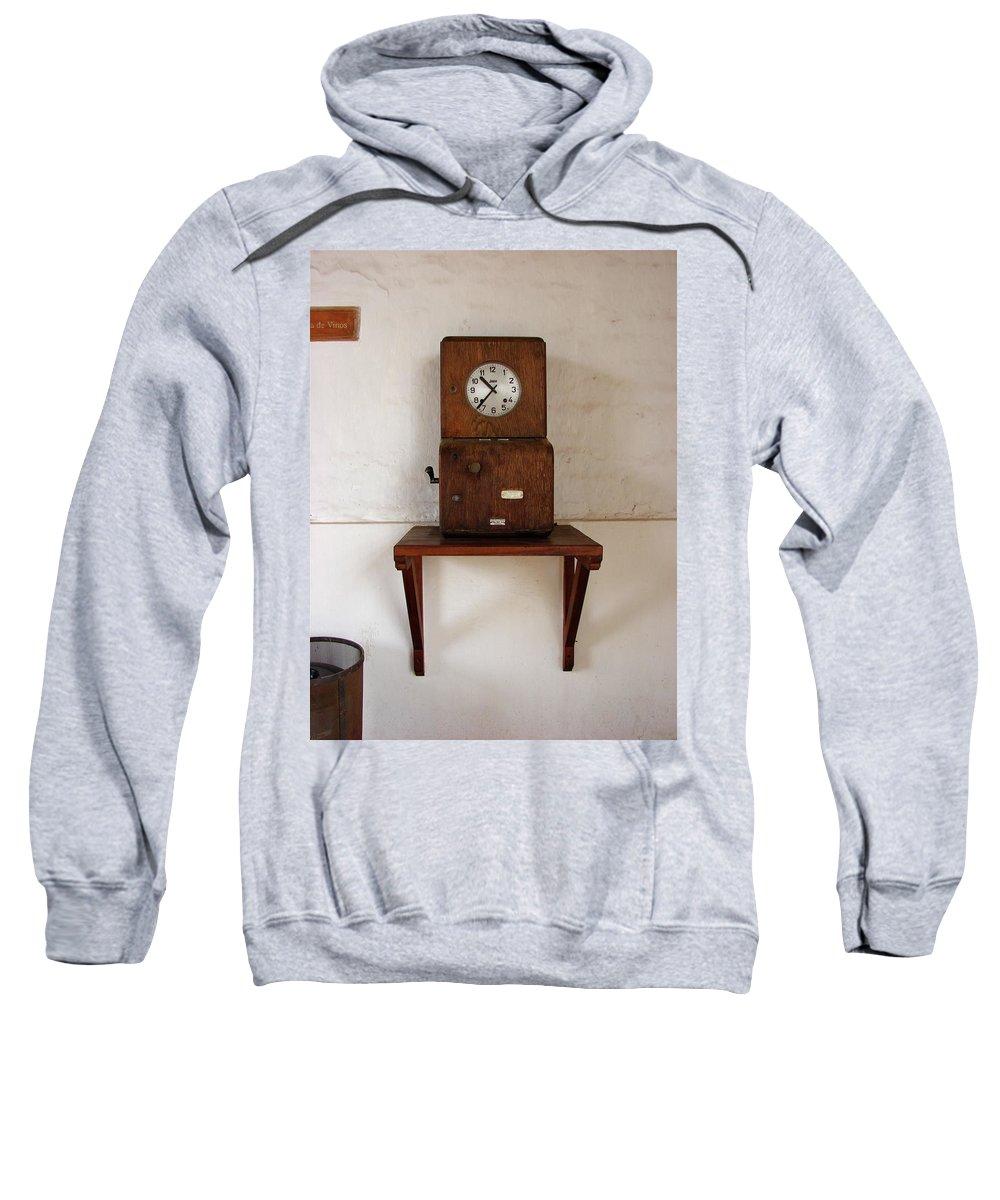 Colchagua Sweatshirt featuring the photograph Time Clock by Brett Winn