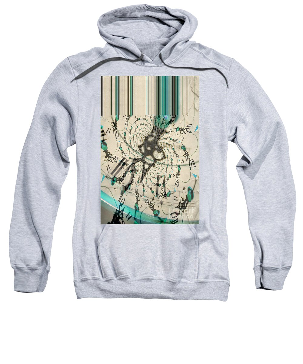 Clock Sweatshirt featuring the photograph Time Ticking To The New Year by Donna Bentley